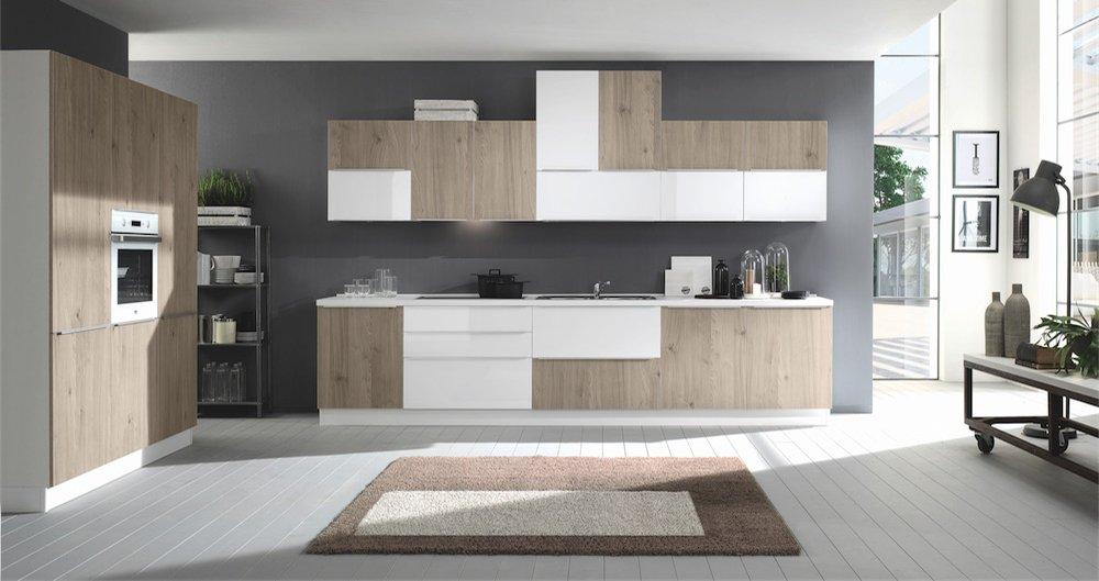 Rovere grigio_Bianco lucido